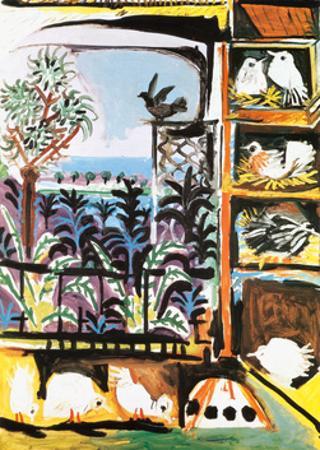 Les Pigeons, c.1957 by Pablo Picasso