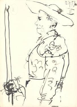 Man on a Horse (Detail) by Pablo Picasso