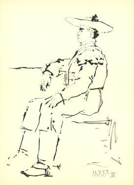 Man Sitting in a Chair by Pablo Picasso