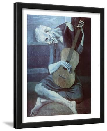 Pablo Picasso Old Guitarist Art Print Poster