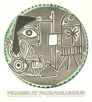 Plates with Text at Pace Columbus by Pablo Picasso