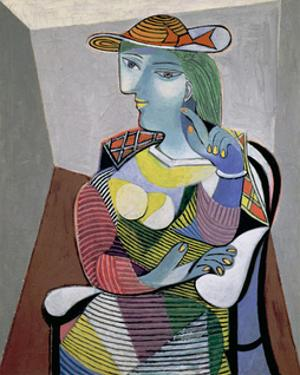 Portrait of Marie-Therese, 6th January 1937 by Pablo Picasso