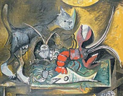Still Life with Cat and Lobster, 1962 by Pablo Picasso