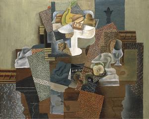 Still Life with Compote and Glass, Winter 1914-15 by Pablo Picasso