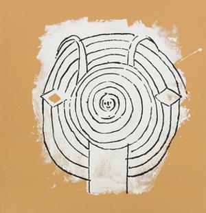 Tete de faune en grisaille ave by Pablo Picasso