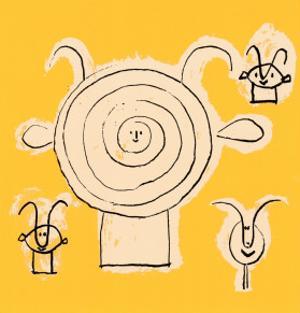 Tete de Faune en Grisaille avec Trois Figure by Pablo Picasso