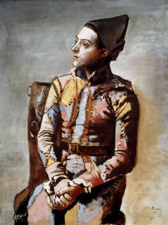 The Seated Harlequin, 1923 by Pablo Picasso