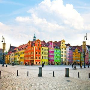Wroclaw City Center, Market Square Tenements and City Hall by Pablo77
