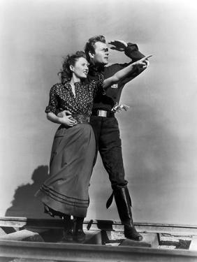Pacific Express UNION PACIFIC by CecilBDeMille with Joel McMcrea and Barbara Stanwyck, 1939 (b/w ph