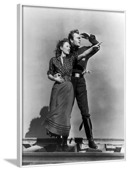 Pacific Express UNION PACIFIC by CecilBDeMille with Joel McMcrea and Barbara Stanwyck, 1939 (b/w ph--Framed Photo