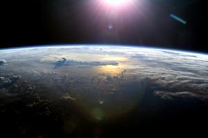 Pacific Ocean From Space, ISS Image