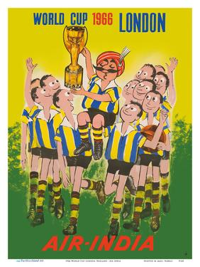1966 World Cup London, England - Air India - Maharaja Soccer Player by Pacifica Island Art