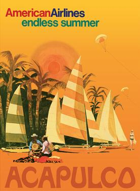 Acapulco Mexico - American Airlines - Endless Summer by Pacifica Island Art