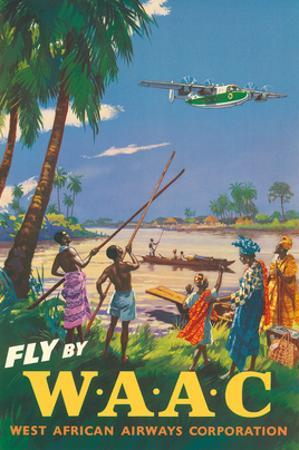 Africa - Fly by WAAC (West African Airways Corporation) - Africans - Niger River by Pacifica Island Art