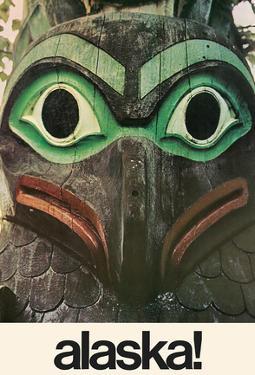 Alaska - Native Aleut Eagle Totem by Pacifica Island Art