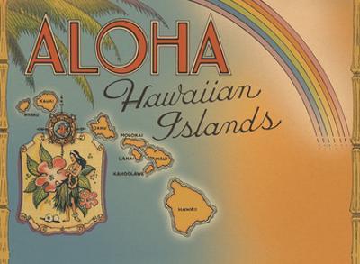 Aloha Hawaiian Islands - Rainbow State by Pacifica Island Art
