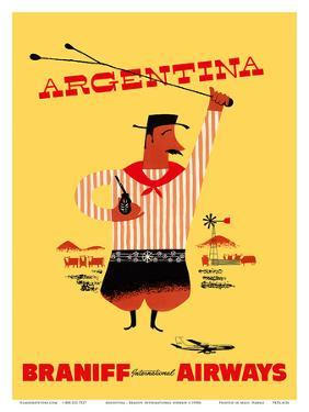 Argentina - Argentinian Gaucho by Pacifica Island Art