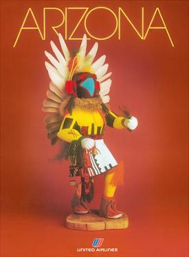 Arizona - United Airlines - Pueblo Native American Kachina Doll by Pacifica Island Art