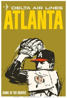 Atlanta - Home of the Braves - Delta Air Lines by Pacifica Island Art