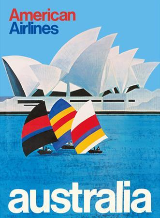 Australia - Sydney Opera House - American Airlines by Pacifica Island Art