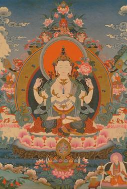 Avalokiteshvara, Chaturbhuja (The All Seeing Lord with Four Hands) by Pacifica Island Art