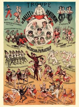 Ballet and Pantomime Troupe - Directed by M.M. Crociani and Pio Marzollo by Pacifica Island Art