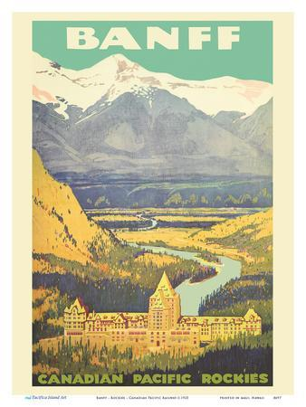 Banff, Canada - Rockies - Canadian Pacific Railway