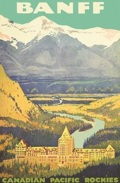 Banff, Canada - Rockies - Canadian Pacific Railway by Pacifica Island Art