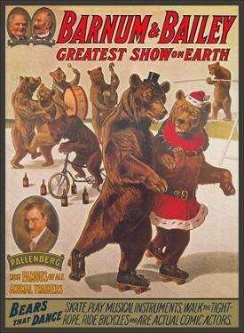 Barnum & Bailey Circus - Greatest Show on Earth - Bears that Dance by Pacifica Island Art