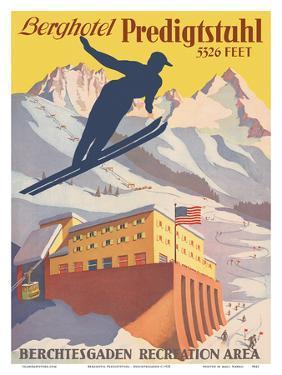 Berghotel Predigtstuhl - Ski Resort - Bad Reichenhall, Bavaria, Germany by Pacifica Island Art