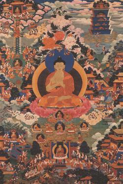 Buddha Shakyamuni - Wheel of Dharma Mudra (Dharmachakra) by Pacifica Island Art