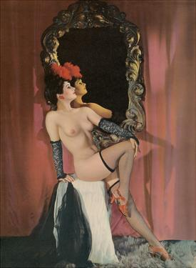 Burlesque Beauty - Stocking Clad Showgirl by Pacifica Island Art
