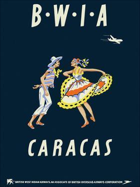 Caracas, Venezuela - British West Indies Airways BWIA by Pacifica Island Art