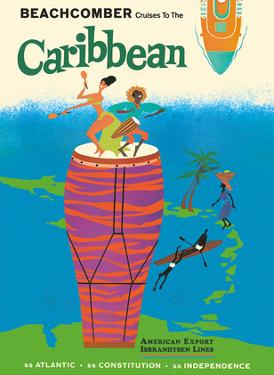 Caribbean Islands - Beachcomber Cruises - Calypso Dancers by Pacifica Island Art