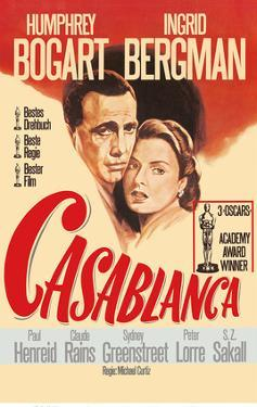 Casablanca - Starring Humphrey Bogart, Ingrid Bergman by Pacifica Island Art