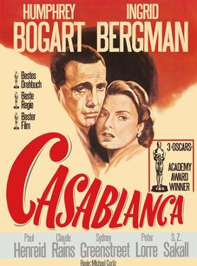 Casablanca - Starring Humphrey Bogart, Ingrid Bergman by Pacifica Island Art