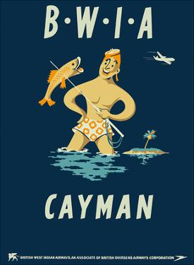 Cayman Islands - British West Indies Airways BWIA by Pacifica Island Art
