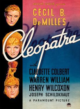 Cecil B. DeMille's Cleopatra - Starring Claudette Colbert, Warren William, and Henry Wilcoxon by Pacifica Island Art