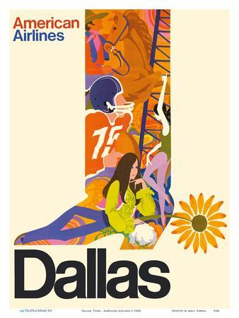 Dallas, Texas - Cowboy Boot with Sunflower Spur - American Airlines