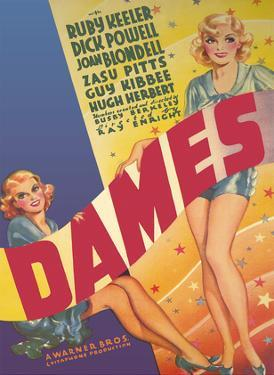 Dames - Starring Joan Blondell, Dick Powell, Ruby Keeler - Directed by Busby Berkeley by Pacifica Island Art