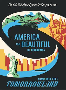 Disneyland - Tomorrowland's America the Beautiful in Circarama by Pacifica Island Art