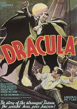 Dracula - Starring Bela Lugosi & David Manners by Pacifica Island Art