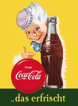 Drink (Trink) Coca Cola - Refreshing (Das Erfrischt) by Pacifica Island Art