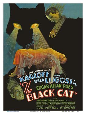 Edgar Allan Poe's The Black Cat - Starring Boris Karloff, Bela Lugosi by Pacifica Island Art