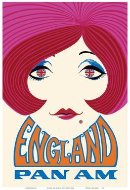England - Pan American World Airways by Pacifica Island Art