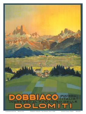 Entrance to the Paradise of the Dolomites Mountains by Pacifica Island Art