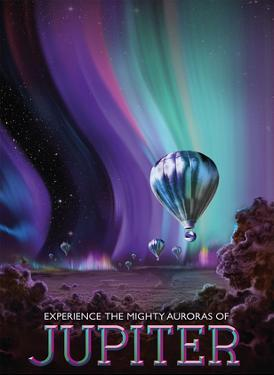 Experience the Mighty Auroras of Jupiter by Pacifica Island Art