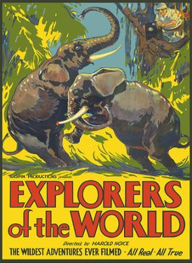 Explorers of The World - Wildest Adventures Ever Filmed - Fighting Bull Elephants by Pacifica Island Art