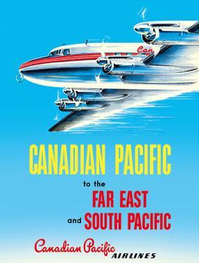 Far East & South Pacific - Canadian Pacific Airlines by Pacifica Island Art
