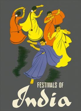 Festivals of India - Classical Indian Dancers by Pacifica Island Art